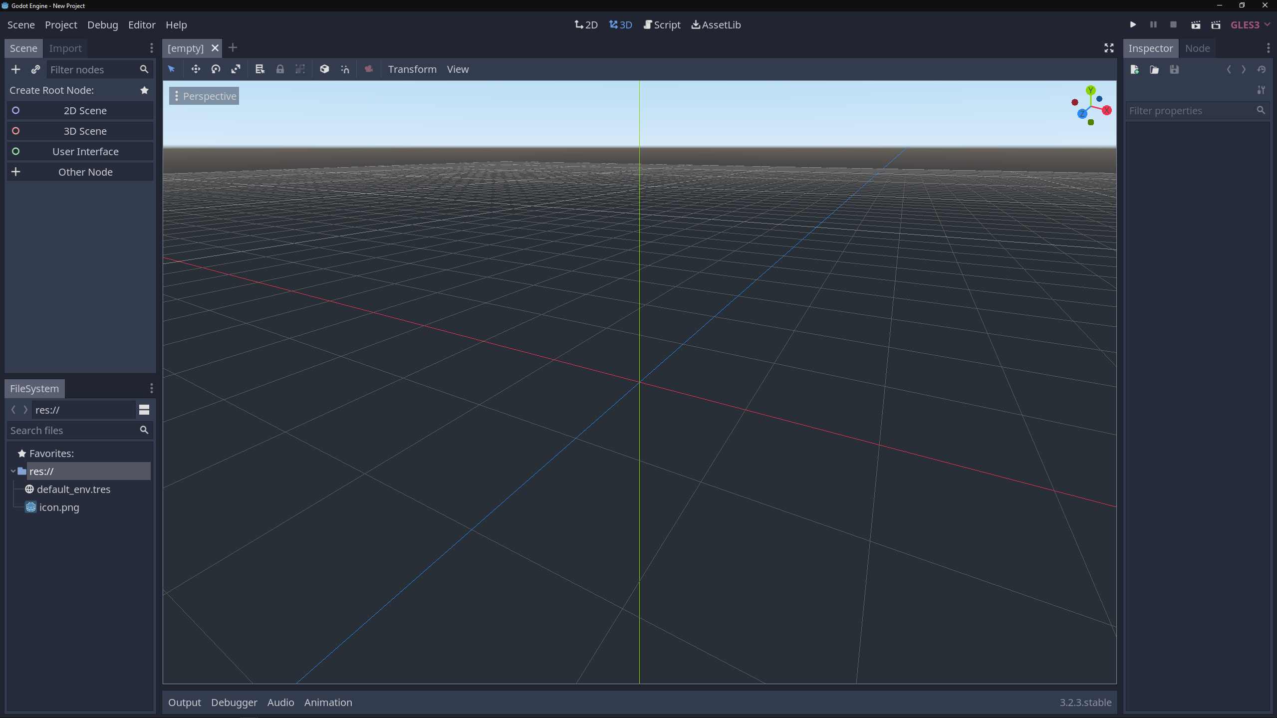 Godot interface