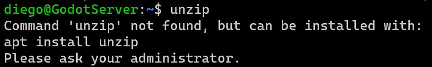 Unzip not found